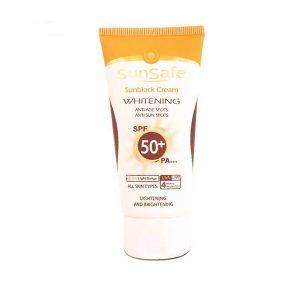 کرم ضد آفتاب روشن کننده سان سیف 50 spf