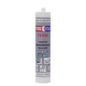 خمیر درزگیر سیلیکونی ترک استار رنگ سفید- TS 555