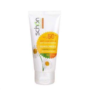 کرم ضد آفتاب رنگی فاقد چربی شون با رنگ طبیعی SPF50
