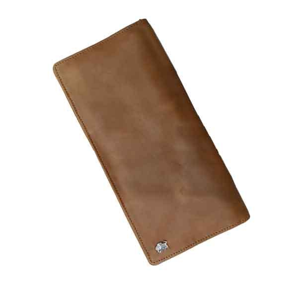 کیف پول و دسته چک دو زیپ چرم بوفالو سیاه کد 1155