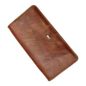 کیف پول دستی چرم بوفالو سیاه کد 1114