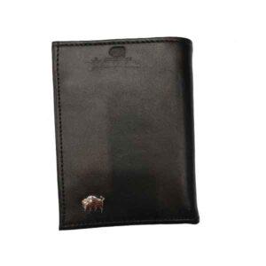 کیف پول چرم بوفالو سیاه مدل 1414
