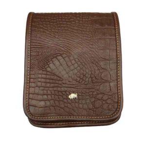 کیف دوشی زنانه چرم بوفالو سیاه مدل 2198