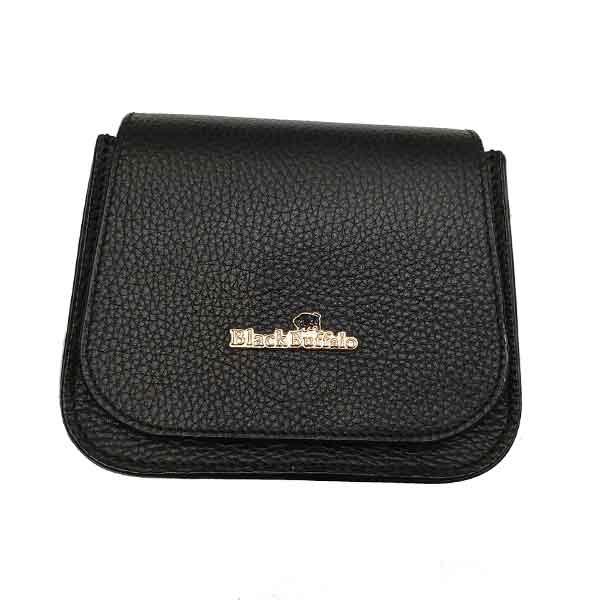 کیف دوشی کوچک چرم بوفالو سیاه مدل 2220