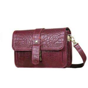 کیف دوشی زنانه (چرم طبیعی بوفالو سیاه)