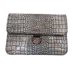 کیف دوشی دخترانه چرم بوفالو سیاه مدل 2237