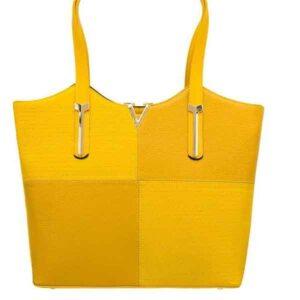 کیف دستی زنانه چرم ترکیبی