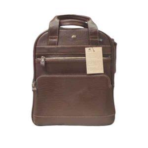 کیف کوله سه کاره چرم بوفالو سیاه مدل 2254