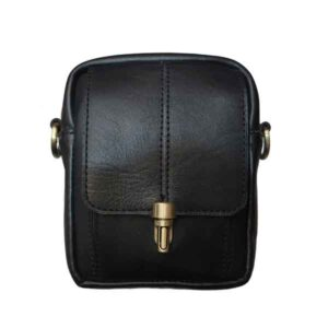 کیف زنانه هیکلی قفل کلونی (چرم طبیعی)