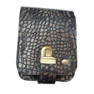 کیف دوشی زنانه مدل 2159 (چرم طبیعی بوفالو سیاه)