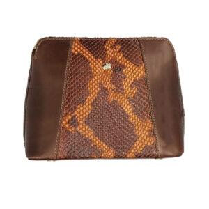 کیف دوشی زنانه چرم بوفالو سیاه مدل 2289