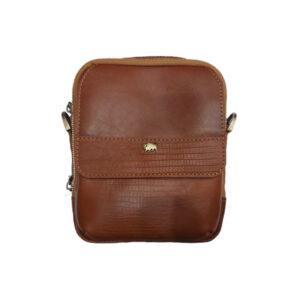 کیف دوشی  زنانه چرم بوفالو سیاه