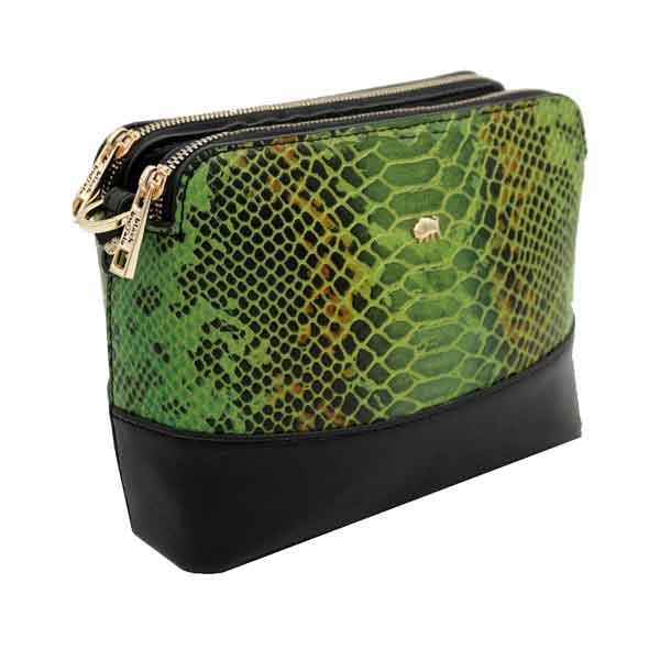 کیف دوشی زنانه چرم بوفالو سیاه مدل 2271